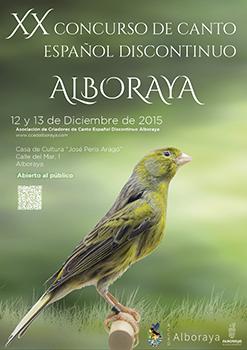 XX Concurso de Canto Español Discontinuo Alboraya 2015 -2016